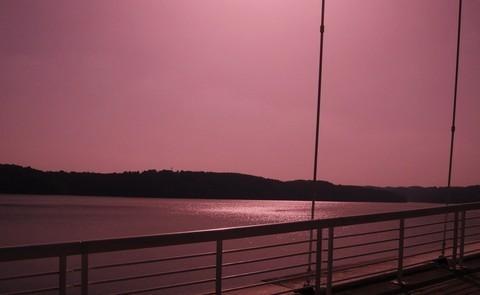 FOTKA - večerní Vranovská přehrada,