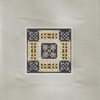 FOTKA - křížková výšivka - přáníčko ornament
