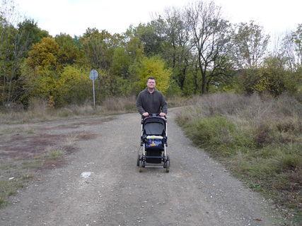 FOTKA - Tatínek vozí kočárek