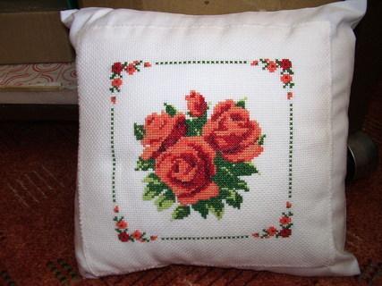 FOTKA - Růže - křížková výšivka