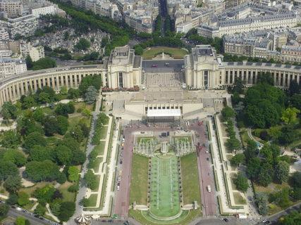 FOTKA - Pohled z Eiffelovky na Paříž 1