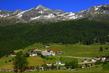 Vesnička v Alpách
