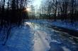 zima na řece Čeladence