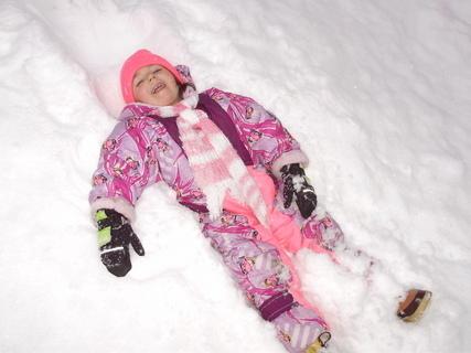 FOTKA - Radost ze sněhu