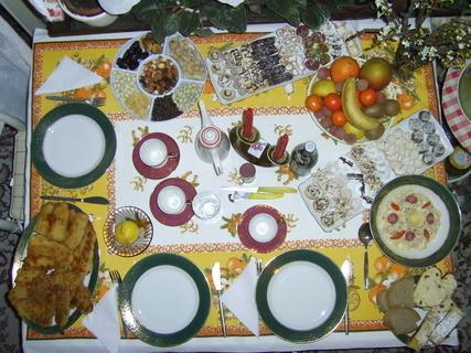 FOTKA - vánoční stůl
