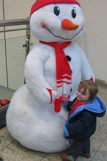 FOTKA - Sněhulák a sněhuláček