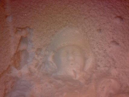 FOTKA - Otisk Adélky ve sněhu