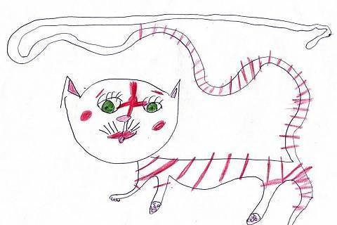 FOTKA - . . . a takhle jí kreslí náš prcek