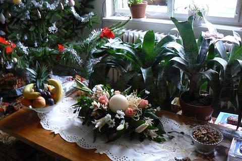 FOTKA - vánoční výzdoba obývák,