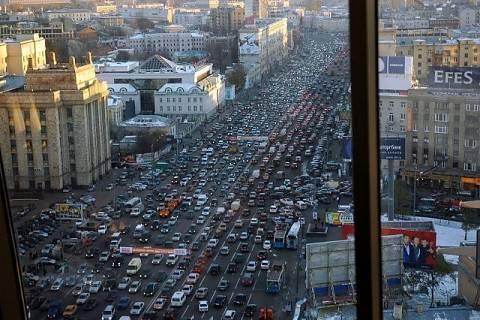 FOTKA - Dopravní situace v Moskvě