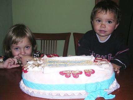 FOTKA - Vnoučátka- Adélka s Adámkem