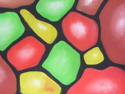 FOTKA - kameny pastelem