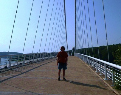 FOTKA - most na Vranovsk� p�ehrad�