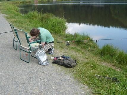 FOTKA - přípravy rybáře