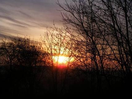 FOTKA - adventní západ slunce