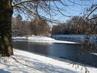 Zima ve městě na soutoku Labe s Orlicí,