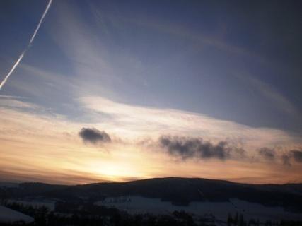 FOTKA - Dnešní západ slunce,15.13 hod - 21.12.2009.