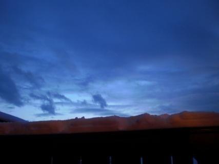 FOTKA -  Výhled z balkonu v podvečer / 16.35 hod/ - 22.12.2009