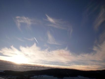 FOTKA - Nebe   před západem slunce - 29.12.2009.