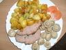 Sekaná s pečenými brambory