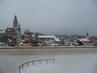 Zimní výhled na zámek a město
