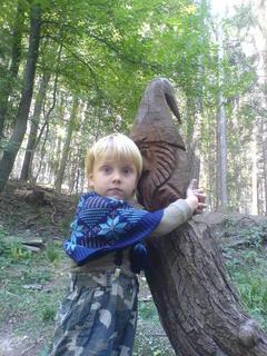 FOTKA - Ondra..v lese na vycházce