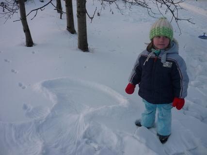 FOTKA - Marky v zime s andelem