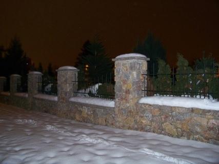FOTKA - večerní začínající sněžení ....