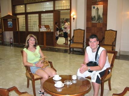 FOTKA - Se synem na kafíčku