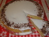 piškotový dort s citrónovou polevou