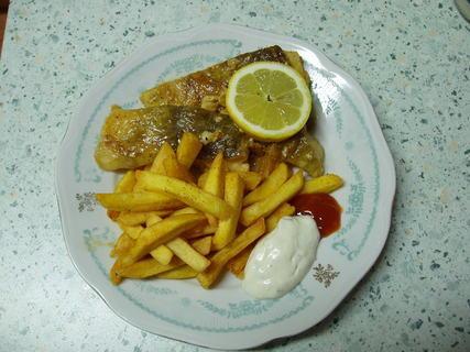 FOTKA - mořská ryba + hranolky