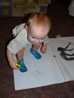 FOTKA - Postoj při malování :-)