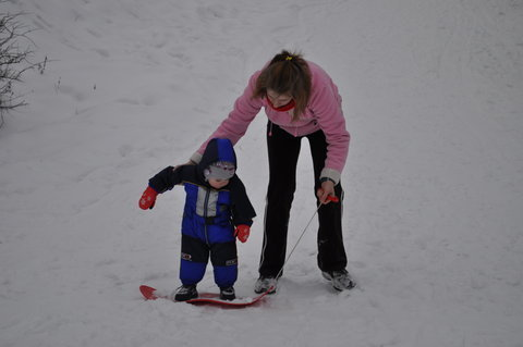 FOTKA - Rom�nek je �ikulka na snowboardu