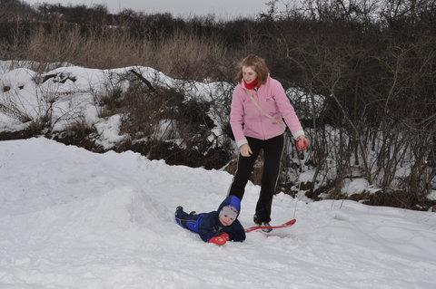 FOTKA - Pád ze snowboardu