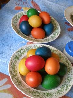 FOTKA - nabarvená vajíčka