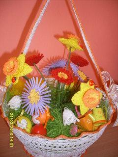 FOTKA - Háčkovaný košíček i kytky