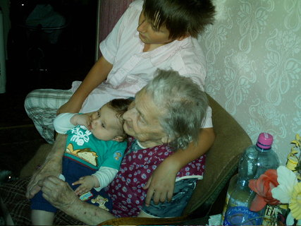 FOTKA - Babička s pravnoučaty