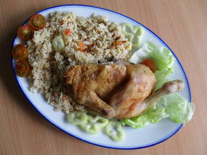 FOTKA - Pečené kuře se zeleninovou rýží