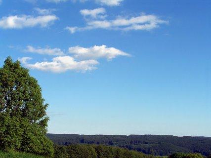 FOTKA - Modré nebe nad lesy