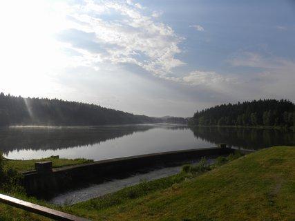 FOTKA - včera po bouřce na Domanínským rybníku