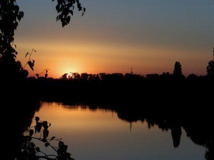 FOTKA - Včerejší západ nad Labem