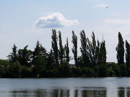 FOTKA - cestou na kole - krajina kolem rybníka