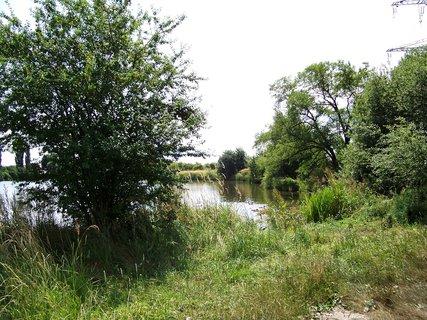 FOTKA - cestou na kole - kolem rybníku ...