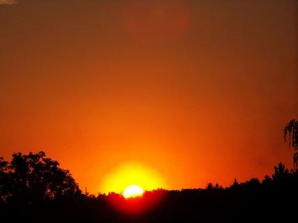 FOTKA - západ slunce 21.7.