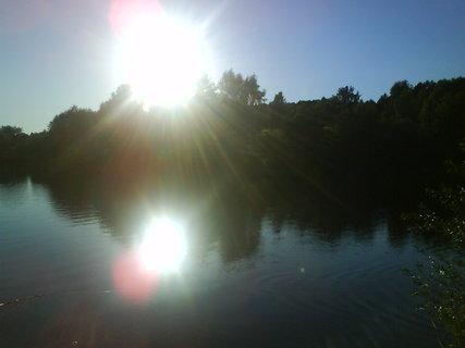 FOTKA - slunko nad přehradou Seč