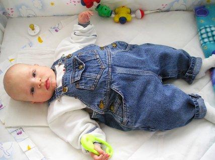 FOTKA - Moje první džíny, když mi bylo 5 měsíců