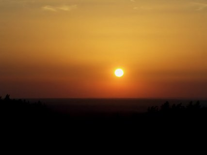 FOTKA - Z rozhledny západ slunce