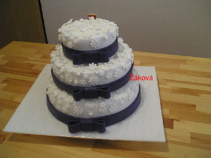FOTKA - svatební s fialovou stuhou