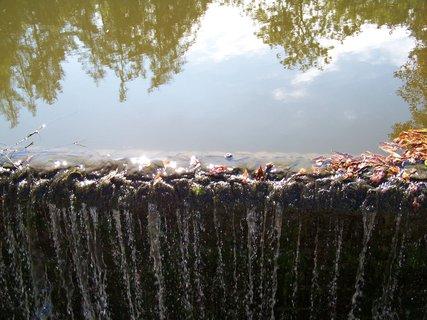 FOTKA - sobotní procházka - spadané listí u splavu, podzim se pomalu hlásí