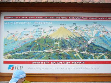 FOTKA - Tady na tý mapě ten Sněhový štít není, nemáte někdo fotku s rozcestníkem u Téryho chaty?